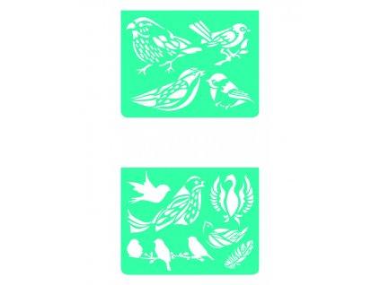 Šablonky ptáčci