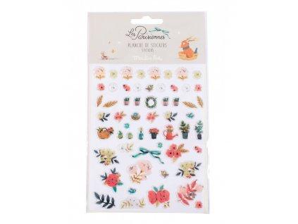 MOULIN ROTY 57 květinových samolepek