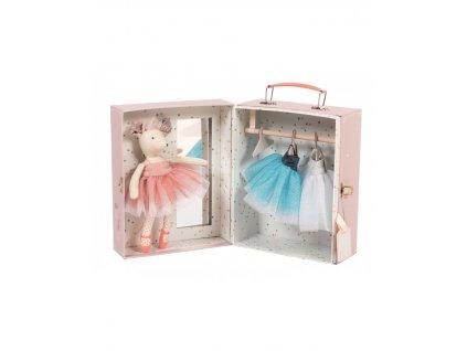 Balerína s garderobou v kufříku