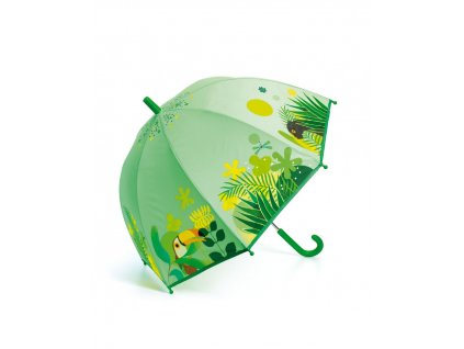 DJECO Krásný designový deštník - Tropická džungle