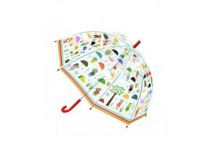 DJECO Krásný designový deštník - V dešti