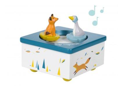 Hrací skříňka Tančící husa a lišák