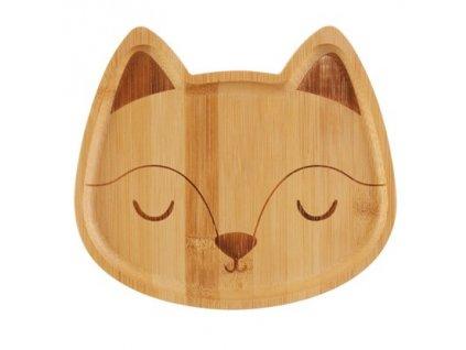 0048755 bambusovy talirek woodland fox 2 415