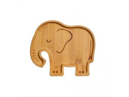 0055122 bambusovy talirek woodland elephant 1 550