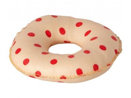 MAILEG Nafukovací kruh - červené puntíky