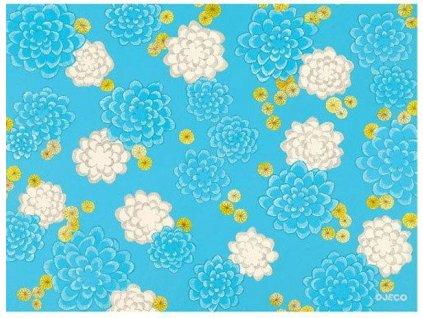 djeco podkladka na stol niebieskie kwiaty dd02905