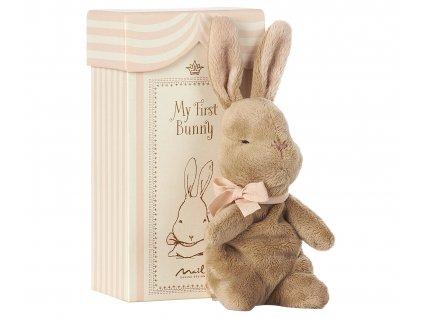 Maileg První králíček v krabičce - růžový