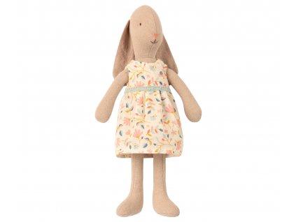 MAILEG Králičí holčička v kytičkových šatech - vel.1