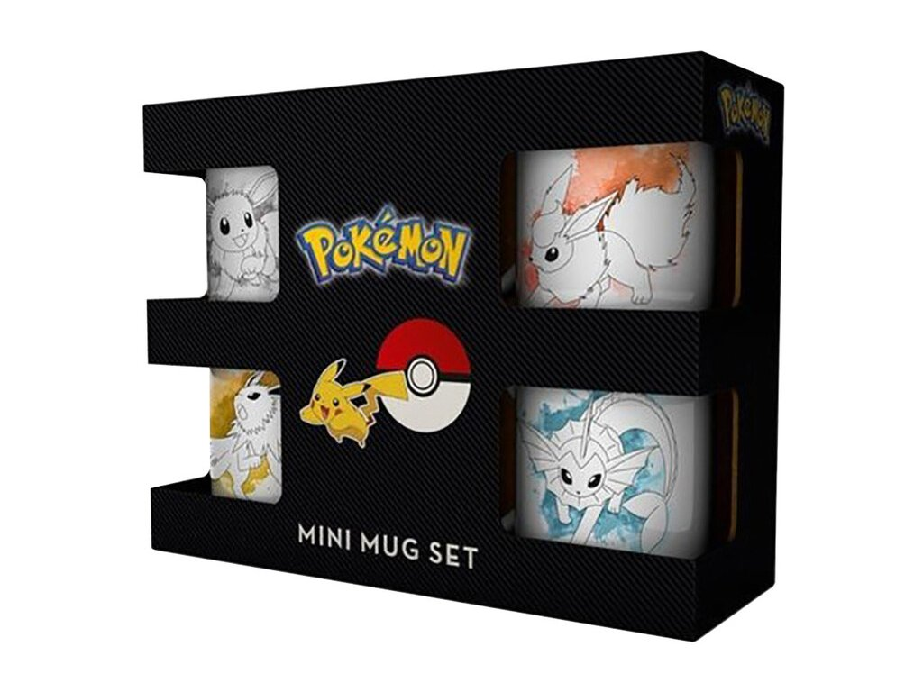 Pokémon - Espresso hrníčky Eevee Evolutions (set 4 ks)