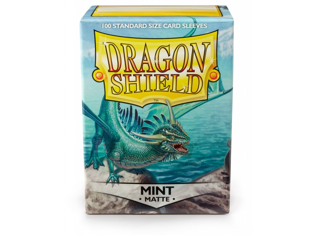 DRAGON SHIELD 100 STANDARD DECK PROTECTOR SLEEVES MATTE MINT AT 11025 01
