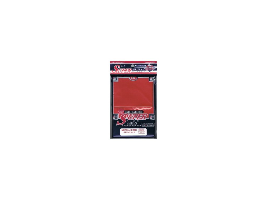 KMC Full Sized Sleeves - Metallic Red