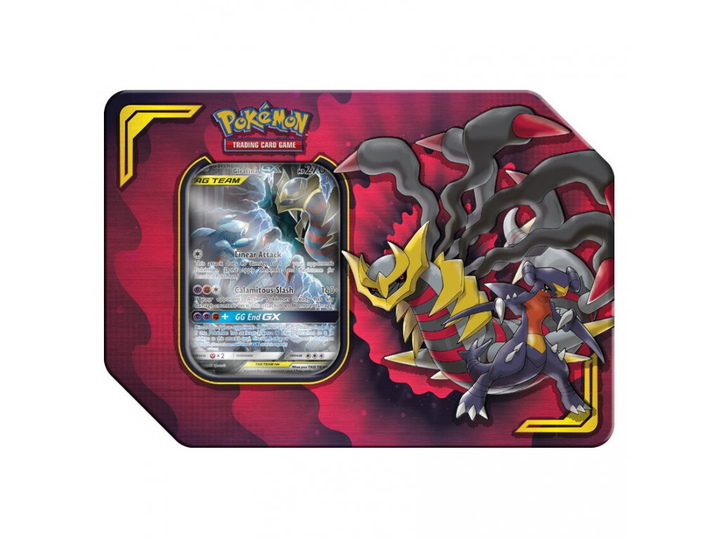 pokemon tcg power partnership garchomp giratina gx tin