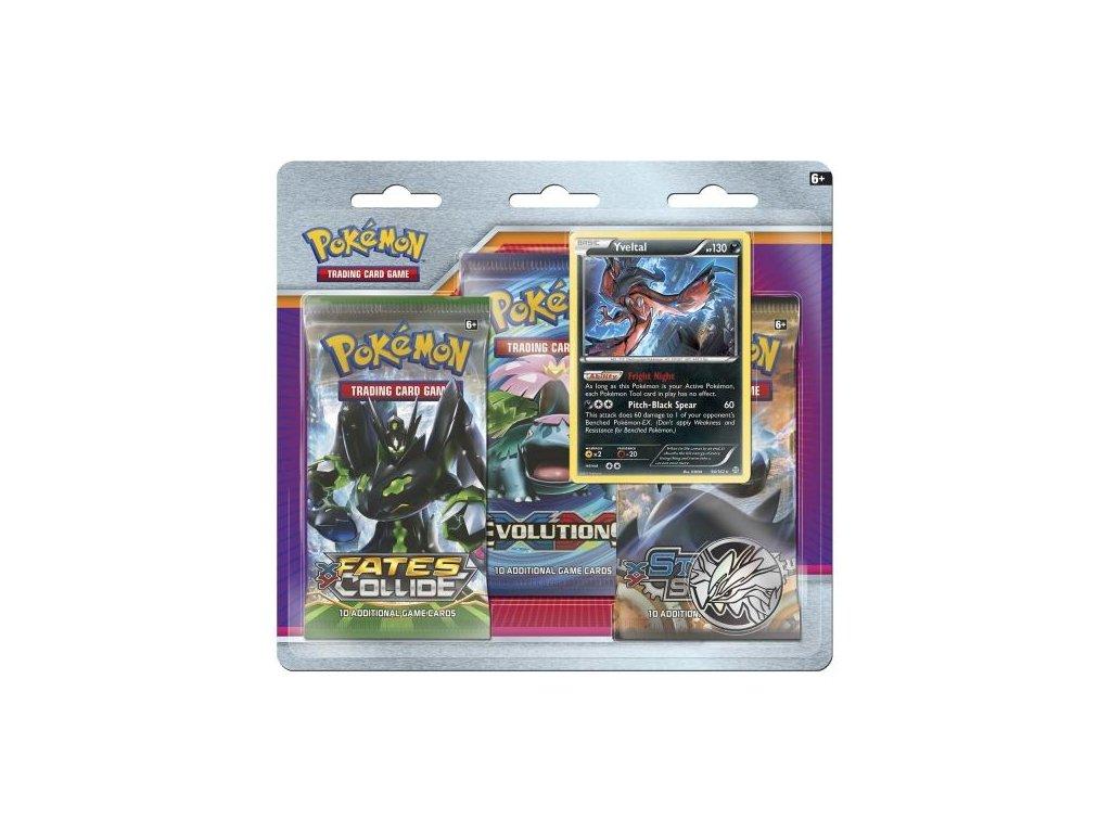 pokemon 3 pack blister yveltal