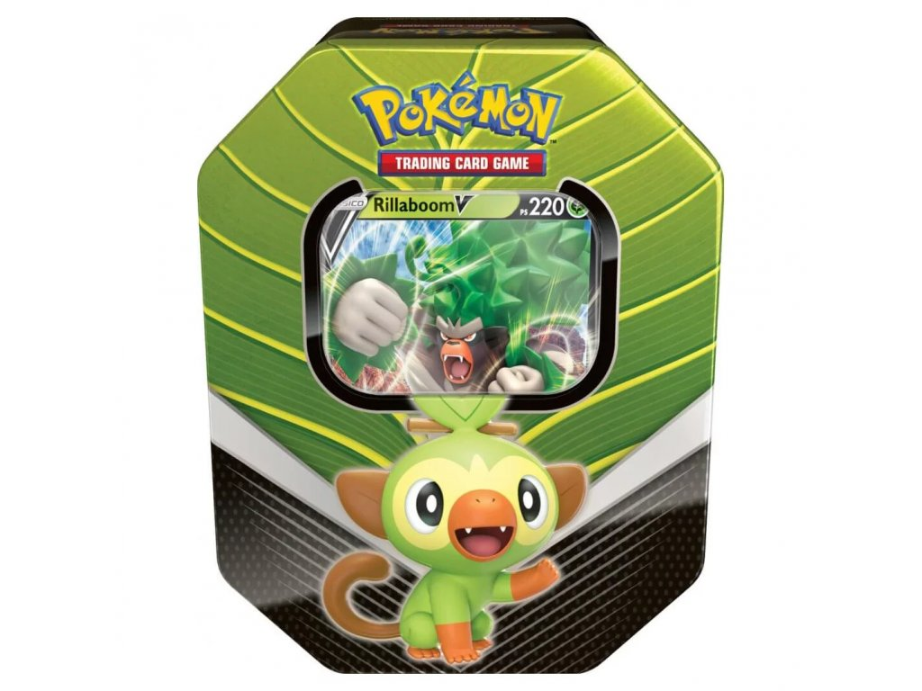 pokemon tcg galar partners rillaboom v tin new