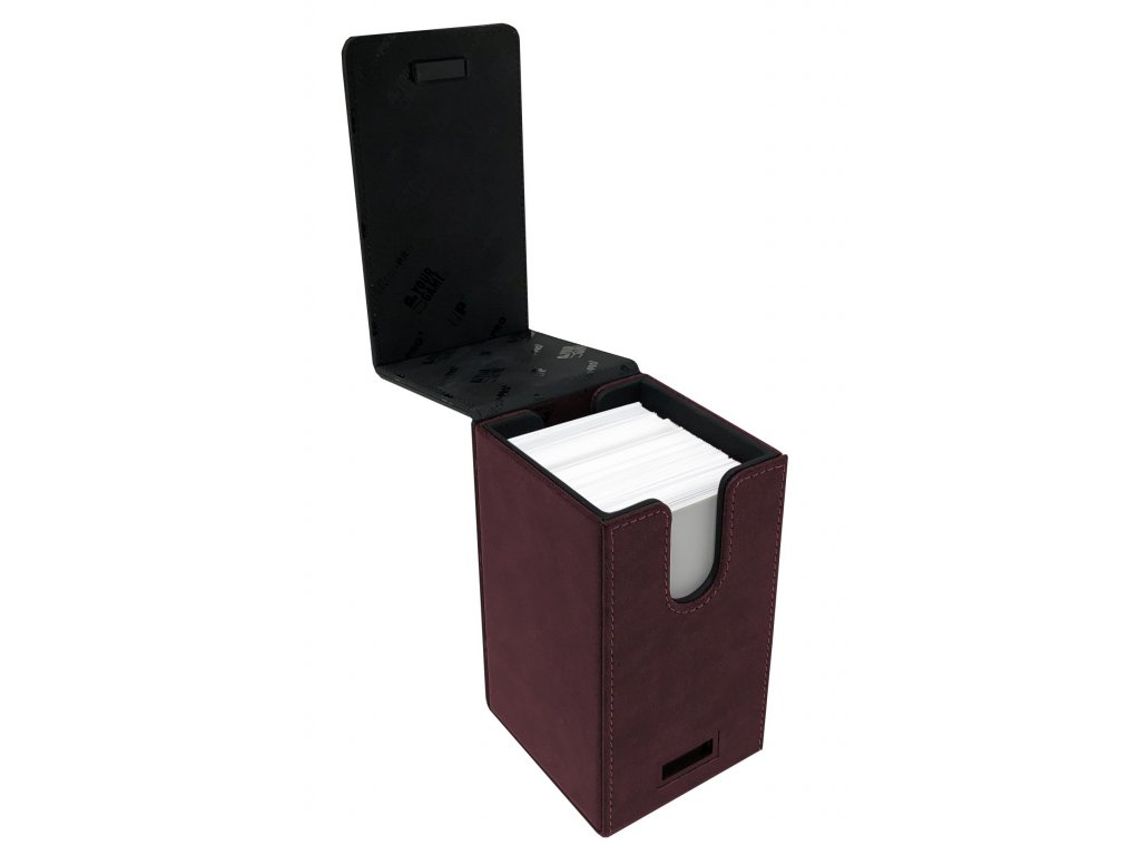 6173 ultra pro alcove tower suede collection ruby deck box