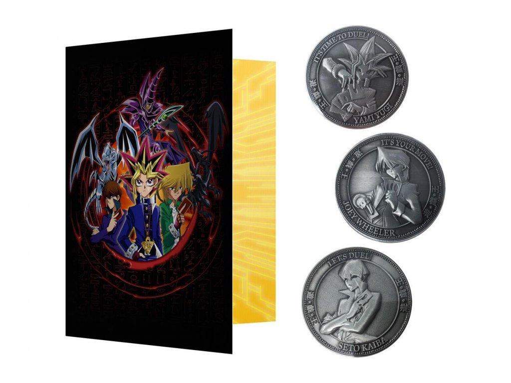 24224 yu gi oh collectable coin 3 pack fanattik