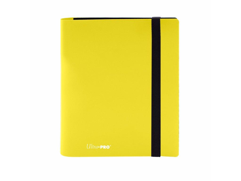 Ultra PRO - 4-Pocket PRO-Binder - Eclipse Lemon Yellow