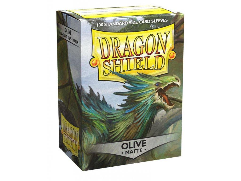 dragon shield sleeves standard size olive lavom matte 82979