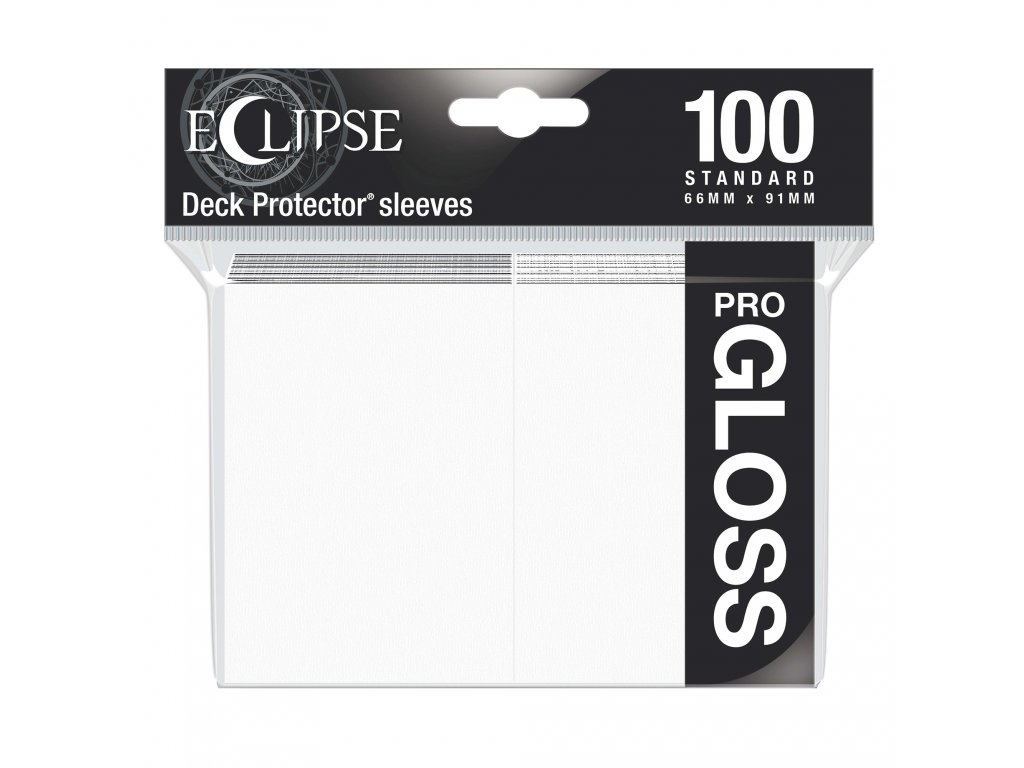 Ultra PRO - Gloss Eclipse obaly 100 ks (Arctic White)