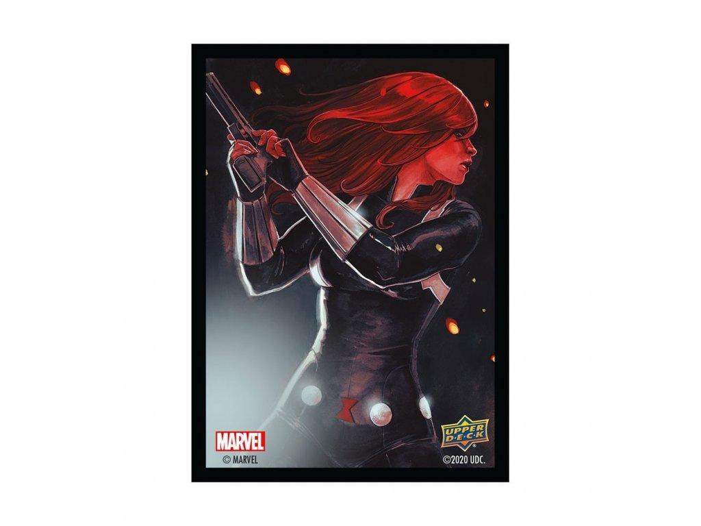 marvel black widow sleeves 65 count 94517