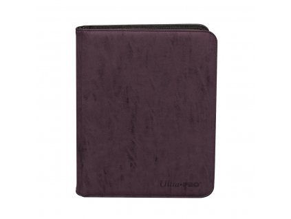 Ultra PRO Suede Collection Zippered 9-Pocket Premium PRO-Binder – Amethyst