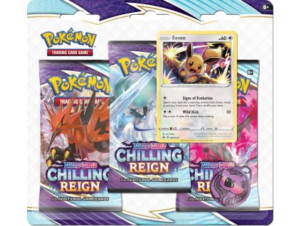 pokemon sword and shield 6 chilling reign 3 pack blister booster