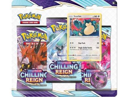 Pokémon TCG - Chilling Reign 3-Pack Blister Snorlax