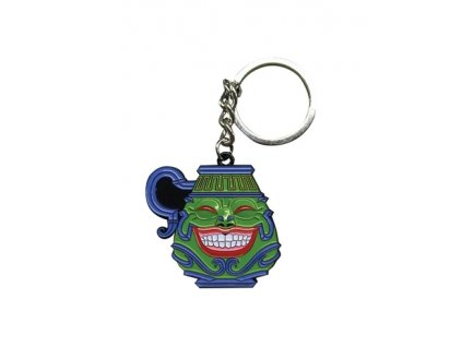 yu gi oh metal keychain pot of greed limited edition