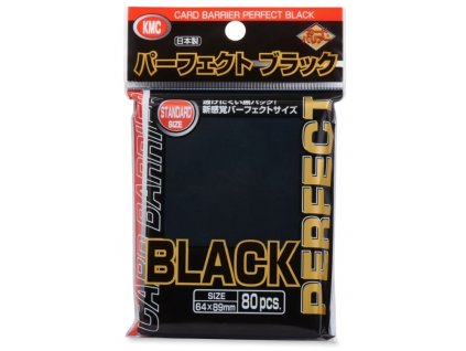 kmc perfect size black sleeves pack PS1744