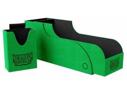 dragon shield nest 300 plus green black deck box 500