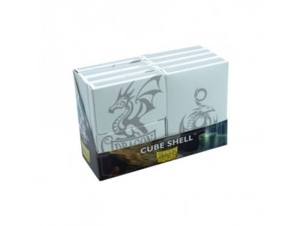 dragon shield cube shell 8x white