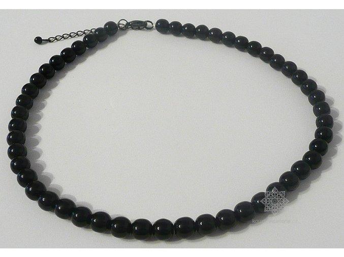 Perly skleněné černé