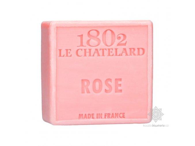 savon carre 100 g rose sans palme