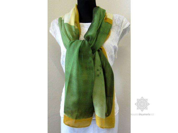 Šála žluto - zelená