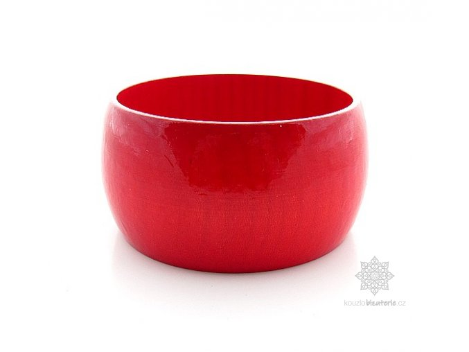 dřevěný náramek červený