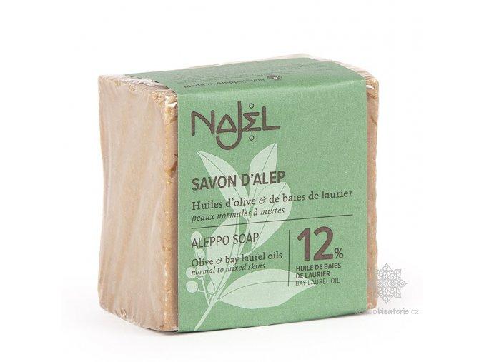 Přírodní syrské mýdlo Najel 12% vavřínový olej