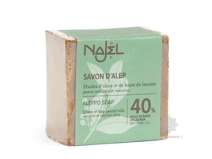 Přírodní syrské mýdlo Najel 40% vavřínový olej