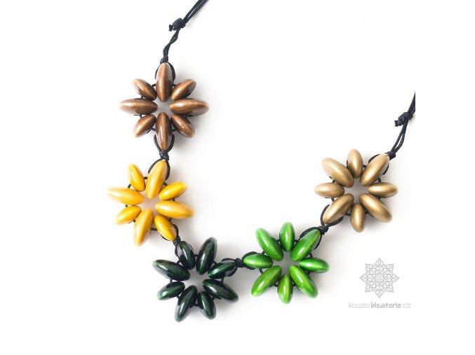 dřevěné korále vícebarevné