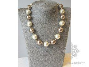 Perly skleněné béžovo -krémové