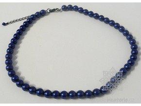 Perly skleněné modré