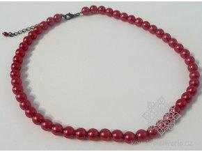 Perly skleněné červené