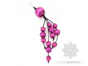Přívěšky fialové (amarantový odstín)