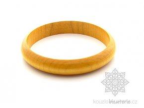 dřevěný náramek žlutý