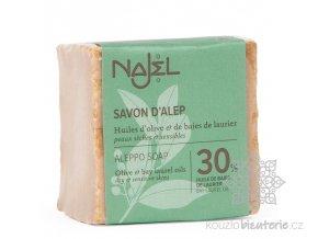 Přírodní syrské mýdlo Najel 30% vavřínový olej