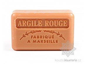 Marseillské mýdlo Foufour obohacené červeným jílem