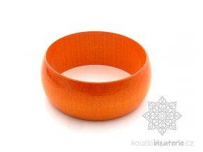 dřevěný náramek oranžový