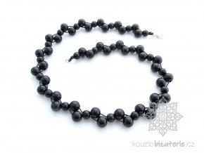 dřevěné korále modré