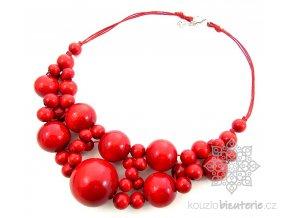 Dřevěné korále červené
