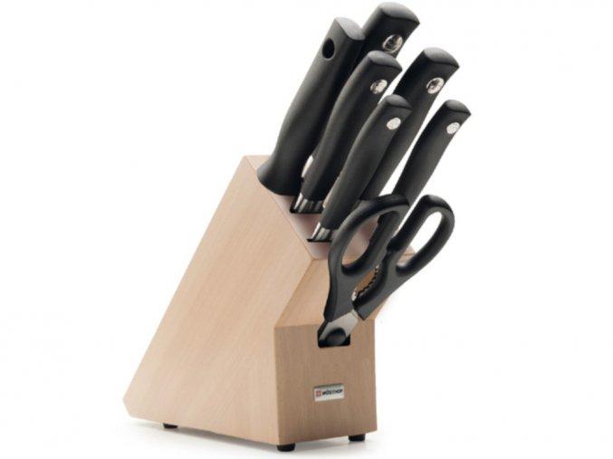 Blok s noži Wüsthof GRAND PRIX II 7 dílů, Světlý