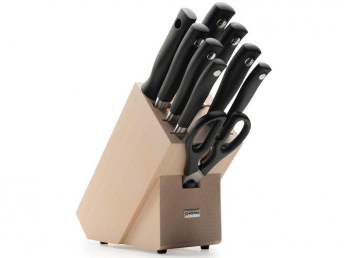 Blok s noži Wüsthof GRAND PRIX II 9 dílů, Světlý